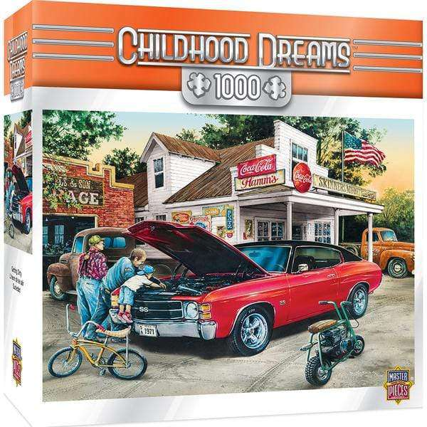 Masterpieces Childhood Dreams - Getting Dirty - 1,000 Piece Puzzle - Legacy Toys