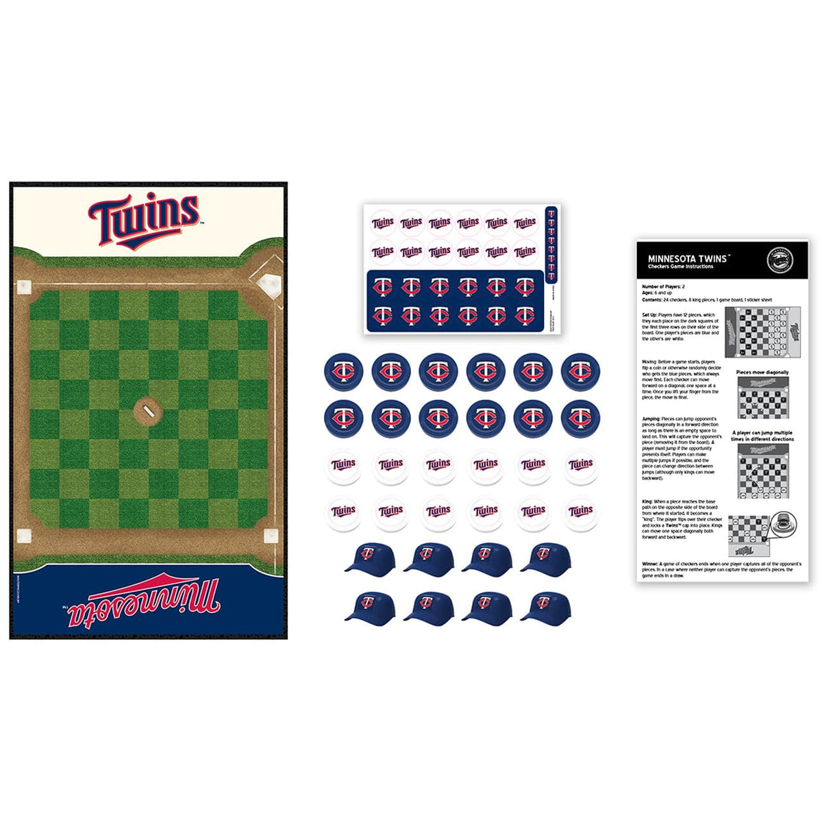 Minnesota Twins Checkers Board Game