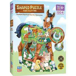 Masterpieces Pony Playtime Shaped Jigsaw Puzzle - 100 Piece Puzzle - Legacy Toys