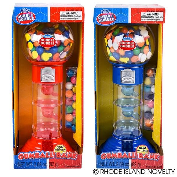 "10.5"" Dubble Bubble Spiral Fun Gumball Bank Assorted Colors - Legacy Toys"
