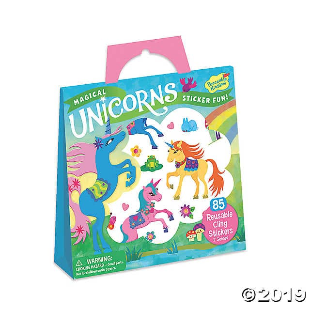 Reusable Sticker Totes - Magical Unicorns