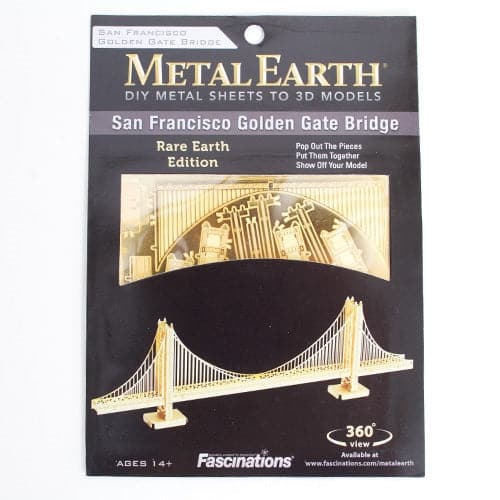 Fascinations Metal Earth - Architecture - Golden Gate Bridge Gold Edition - Legacy Toys