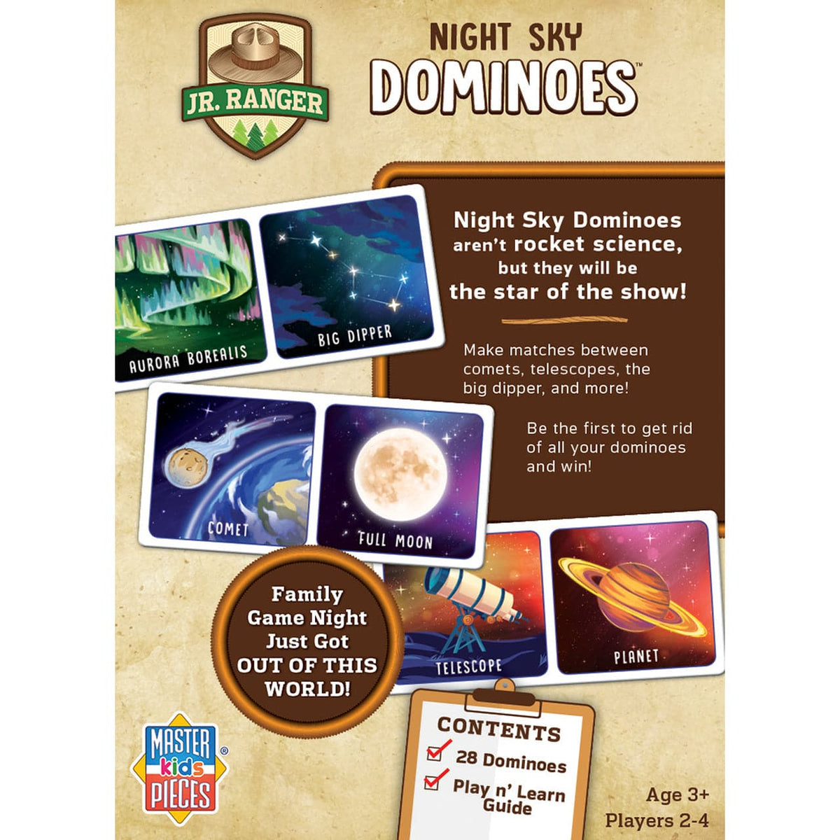 Masterpieces Night Sky Dominoes - Legacy Toys