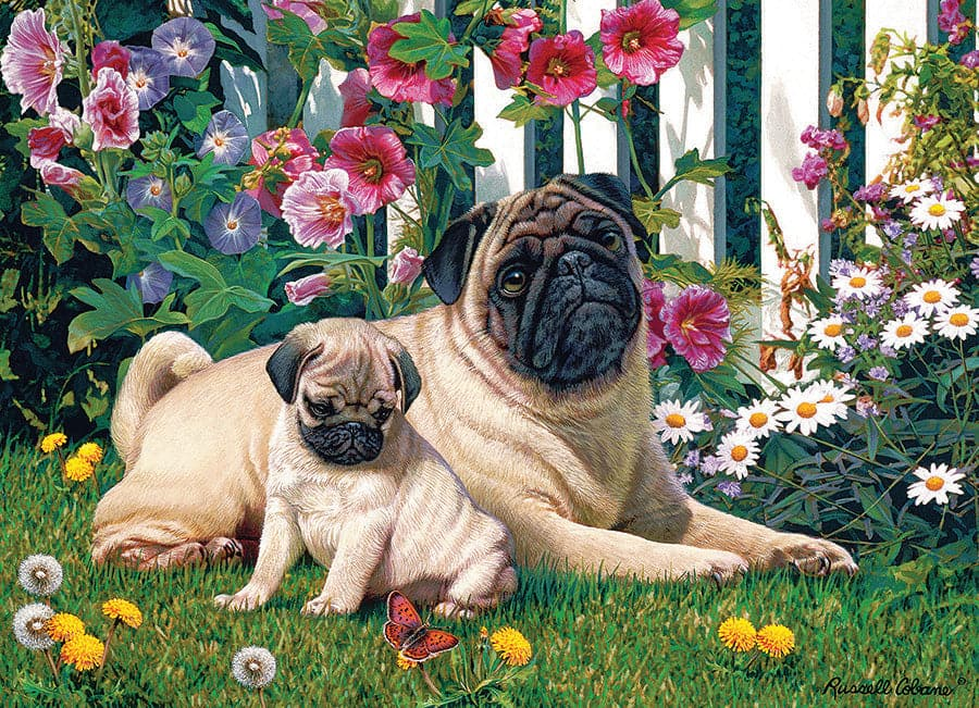 Pug Family 1000 Piece Puzzle Default