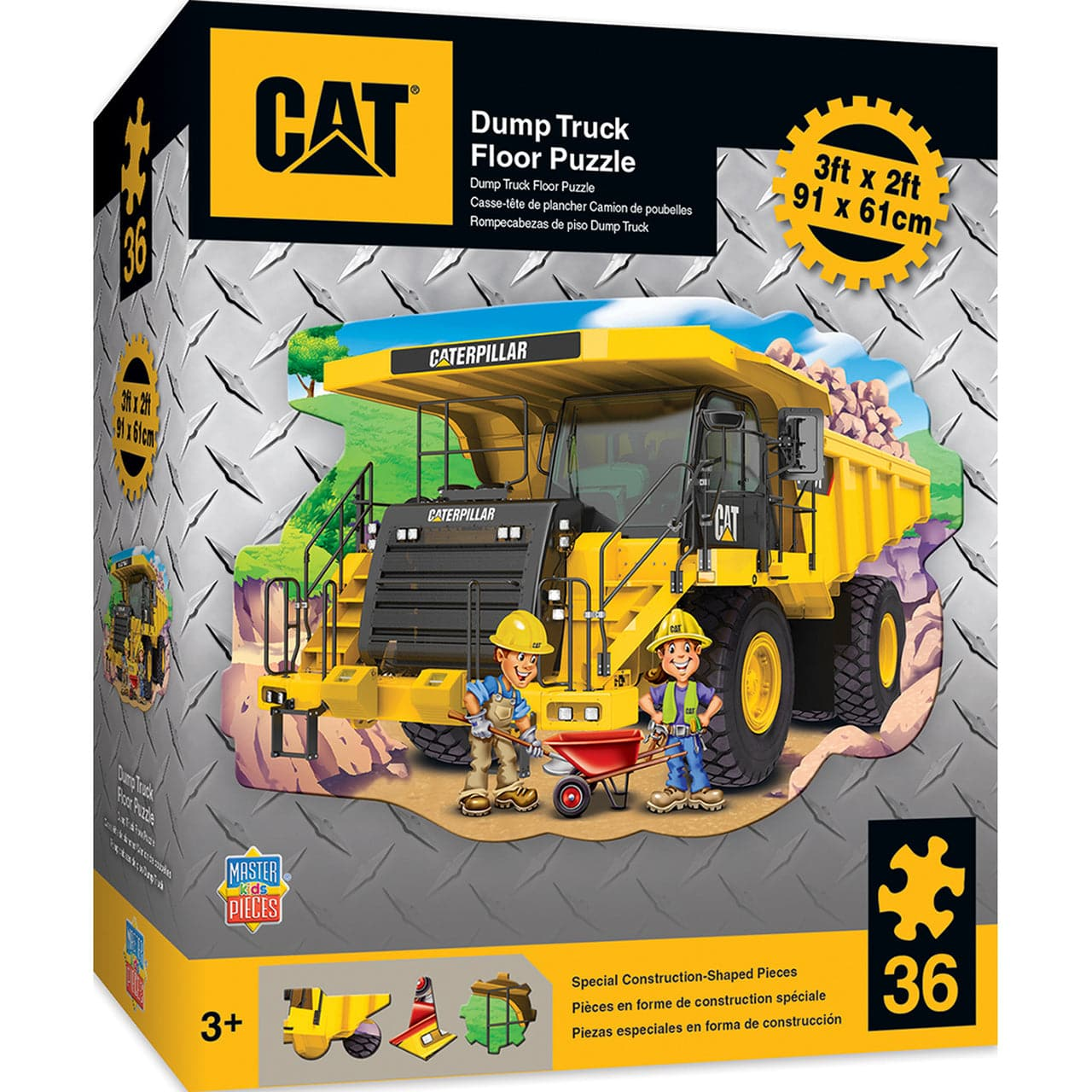 Caterpillar - Dump Truck Shaped Floor Puzzle - 36 Piece Puzzle