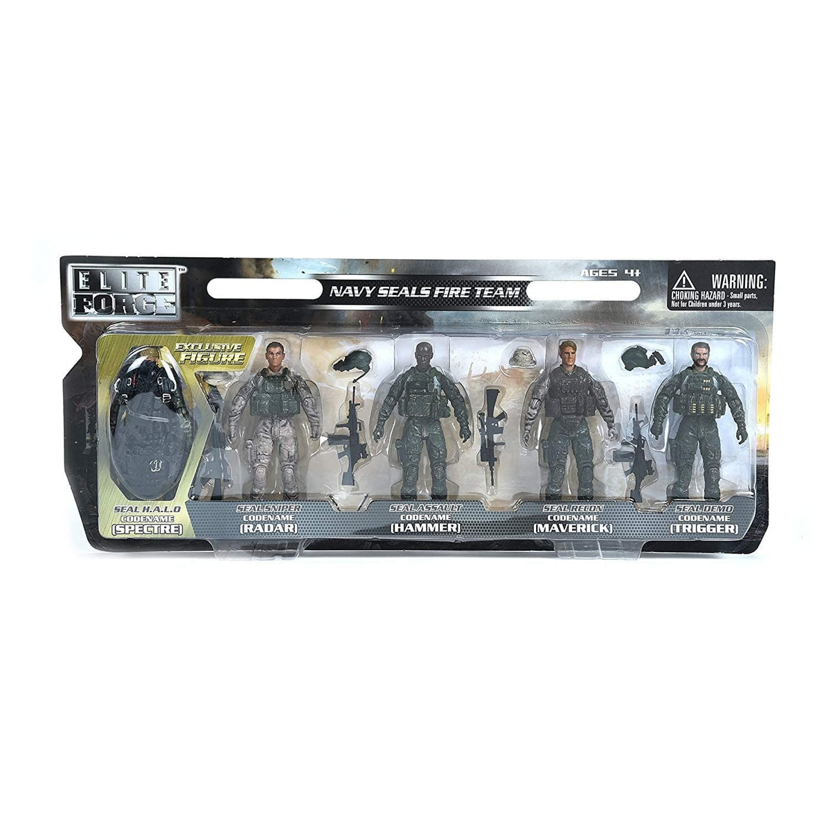 Sunny Days Elite Force - 5 Pack Military Action Figures - Navy Seal Fire Team - Legacy Toys