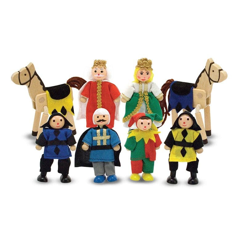 Melissa & Doug Castle Wooden Figure Set - Legacy Toys
