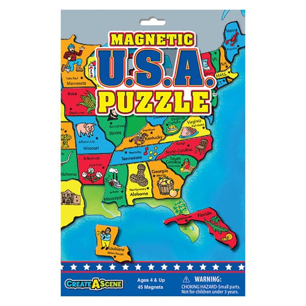 Create A Scene - Magnetic USA Puzzle