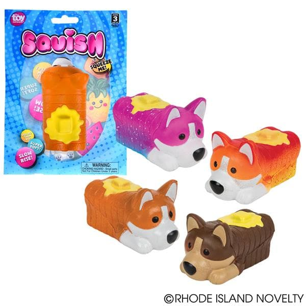 "4"" Squish Corgi Loaf Assorted Styles"