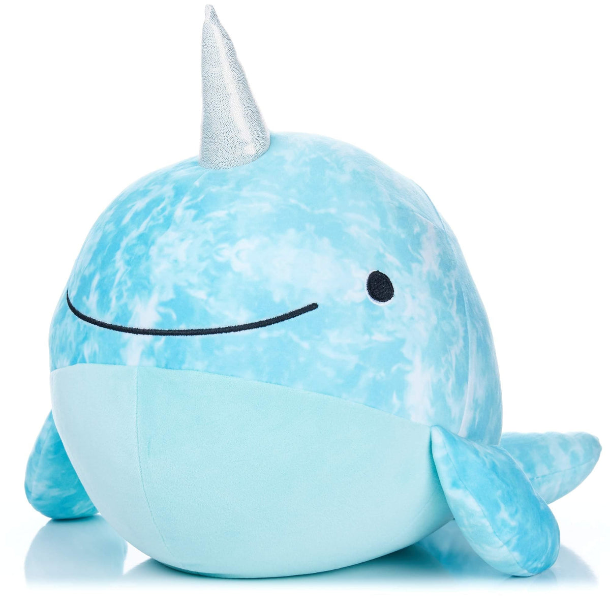 Kids Preferred Cuddle Pal - Round Huggable Indigo the Narwhal - Legacy Toys