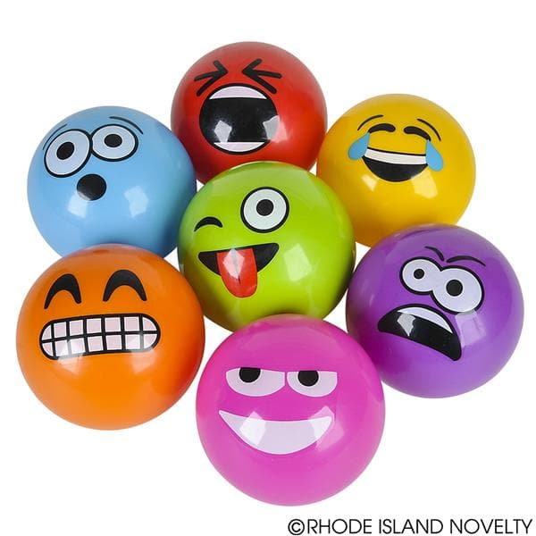 "The Toy Network 5"" Emoticon Emoji Vinyl Ball Assorted Colors - Legacy Toys"