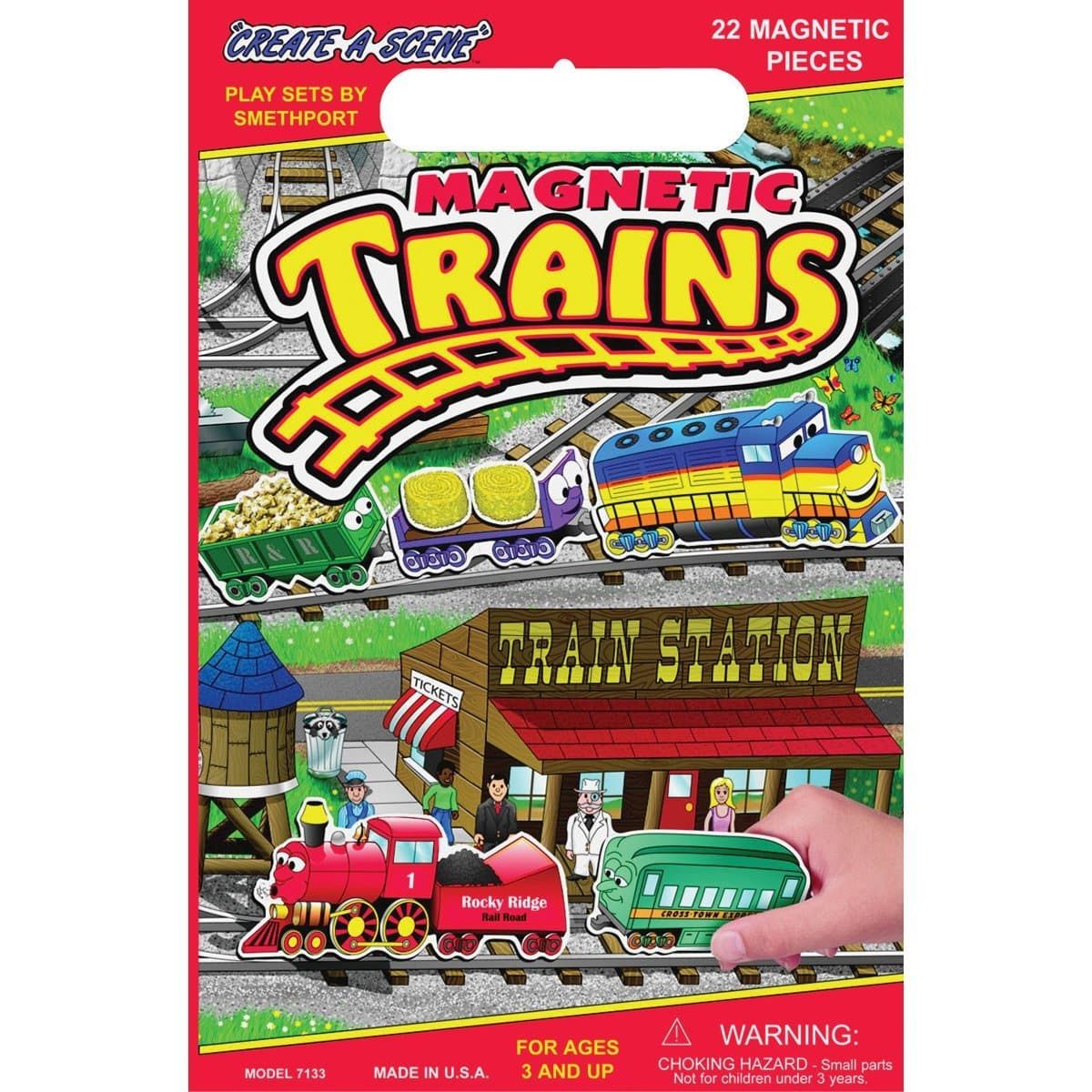 Play Monster Create-A-Scene - Trains - Legacy Toys