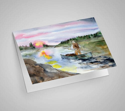 Horizon Reflections Notecard