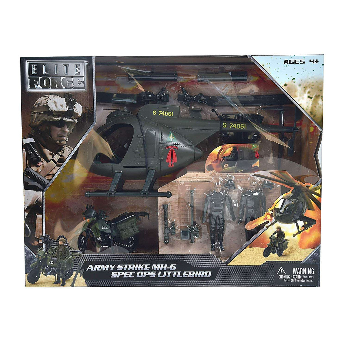 Sunny Days Elite Force - MH-6 Special Ops Little Bird Helicopter - Legacy Toys