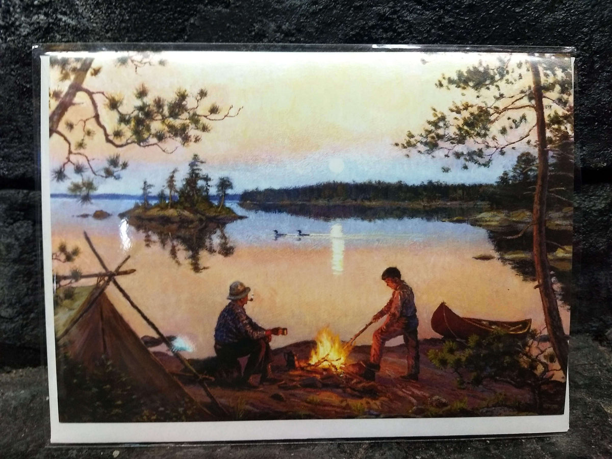 Moonrise in Canoe Country Notecard