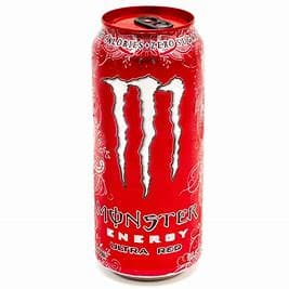 Monster Energy Drink Ultra Red 16 oz. Can