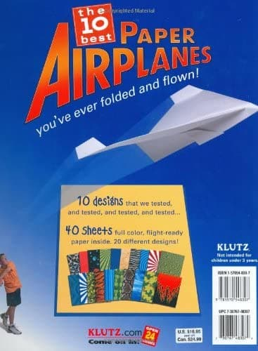 Klutz Klutz Book of Paper Airplanes - Legacy Toys