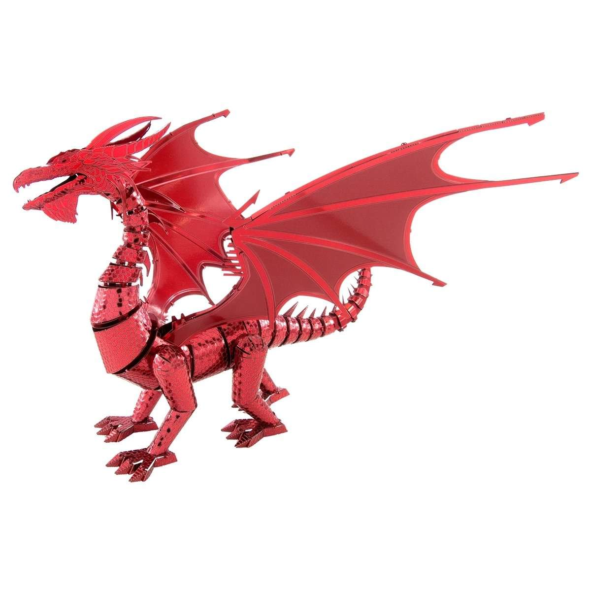 Fascinations Metal Earth Iconx - Red Dragon - Legacy Toys