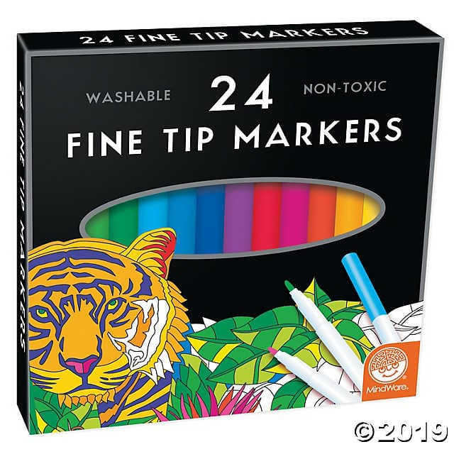 24 Fine Tip Markers