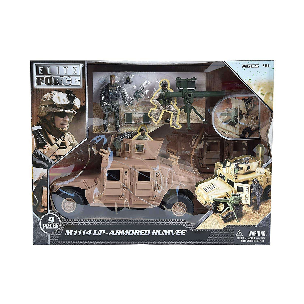 Sunny Days Elite Force - M1114 Up-Armored Humvee Vehicle - Legacy Toys