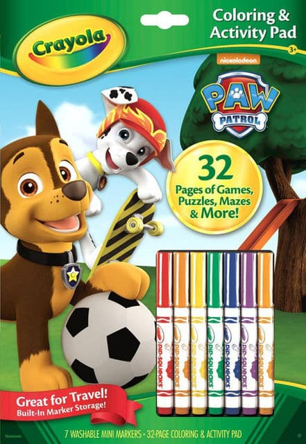 Crayola Color Activity Book with Markers Paw Patrol - Legacy Toys
