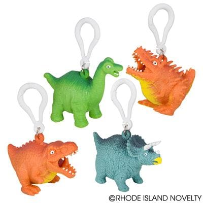 "2.5"" Squeezy Poo Dinosaur Backpack Clip - Assorted Styles"