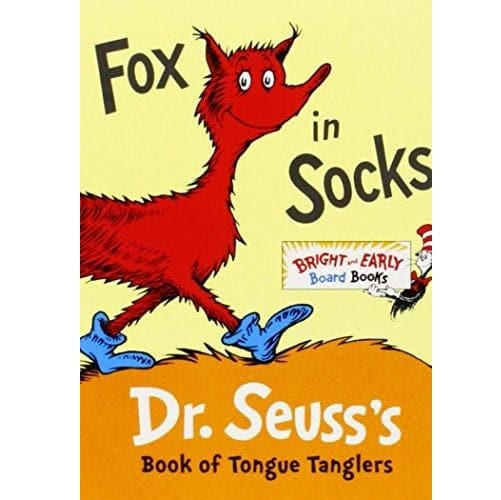 Dr. Seuss Fox in Socks - Bright & Early Board Book - Legacy Toys