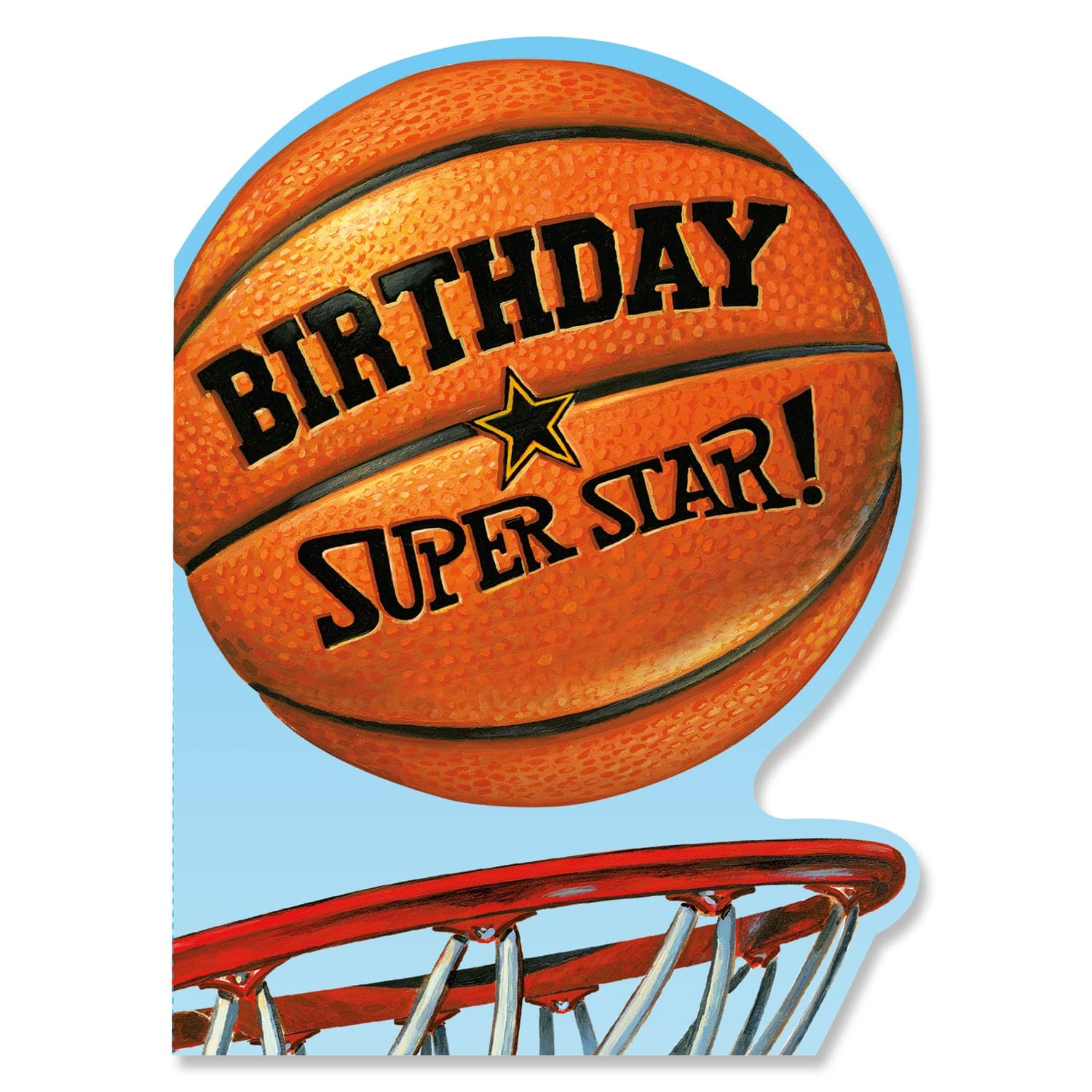 Die Cut Birthday Cards Basketball