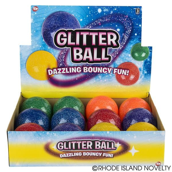 "4"" Glitter Ball Assorted Styles - Legacy Toys"