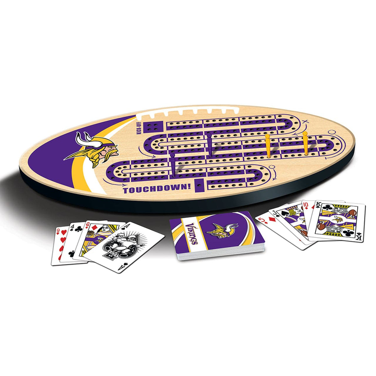 Minnesota Vikings Cribbage Game Board - Legacy Toys
