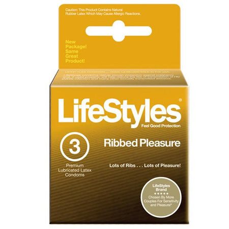 LifeStyles Ultra Ribbed Condoms (3 pack)