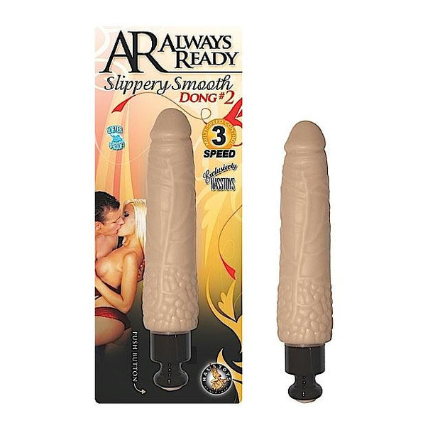 AR Slippery Smooth Dong #2 Multispeed Waterproof Vibe (White)