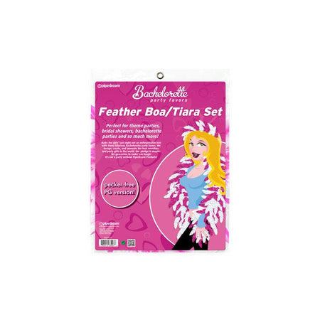 Bachelorette Party Favors Feather Boa and Tiara Set