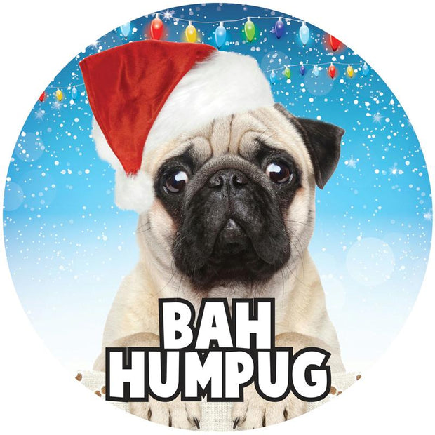 Bah Humpug 6in Button
