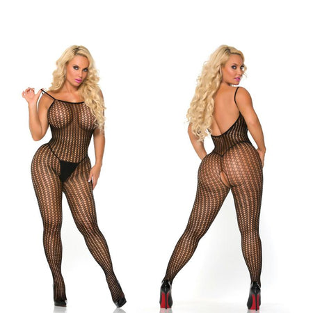 Cocolicious Controlled Chaos Bodystocking Black O-S