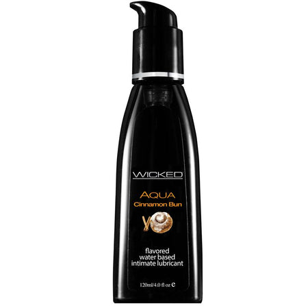 Wicked Aqua Cinnamon Bun 4 fl oz Waterbased Flavored Lubricant