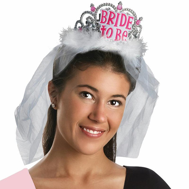Bachelorette Bride To Be Tiara With Veil