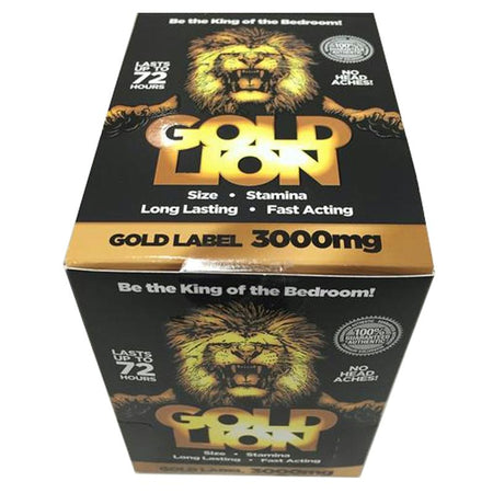 Gold Lion Male Enhancement Pill 1ct 24-Dp