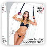Adam & Eve Over The Door Bondage Cuffs Pink