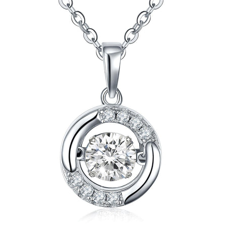 JW Birthstone Diamond 100% 925 Sterling Silver Necklace - Natural Topaz Pendant Necklace Jewelry for Women Necklace Diamond Replica Cubic Luxury Necklace