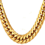 "26"" Clean High End Hip Hop Gold Chain - Thick Stainless Steel Long Big Chunky Bling Long"