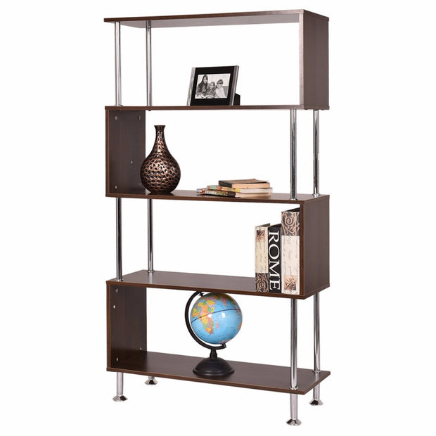 4 Level Shelf Bookcase Wooden Modern Storage Display Furniture Home Cabinets Display Rack