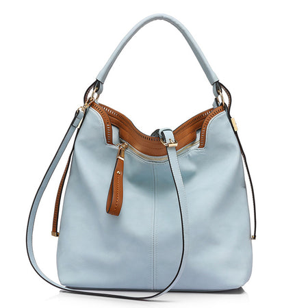 LVOOK Large Capacity Shoulder Handbag - Women's High Quality Leatherette Casual Tote Bag