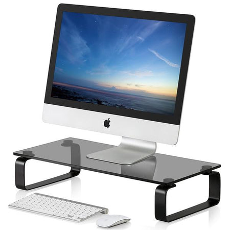 Fitueyes Computer Monitor Riser and Laptop Stand, 4.7in High 23.6in Desktop Stand DT106005GB
