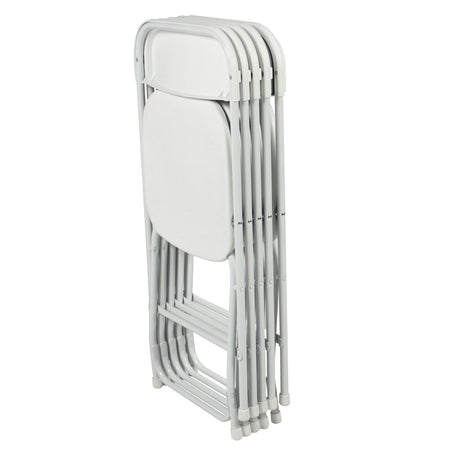 5pcs Portable Plastic Folding Chairs White Dining Room Furniture Durable Long Lasting HOT SALE
