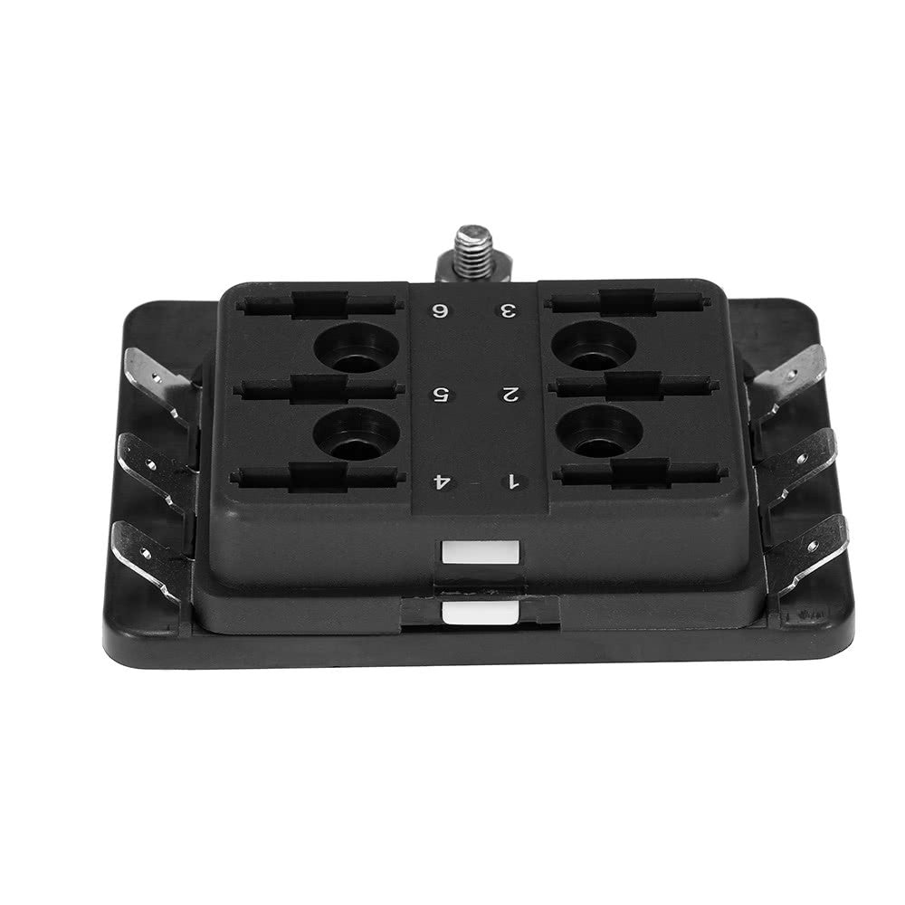 1 Power In 6 Way Blade Fuse Box Holder For Boat Marine 12v 24v Add A Circuit Atc Standard Connector