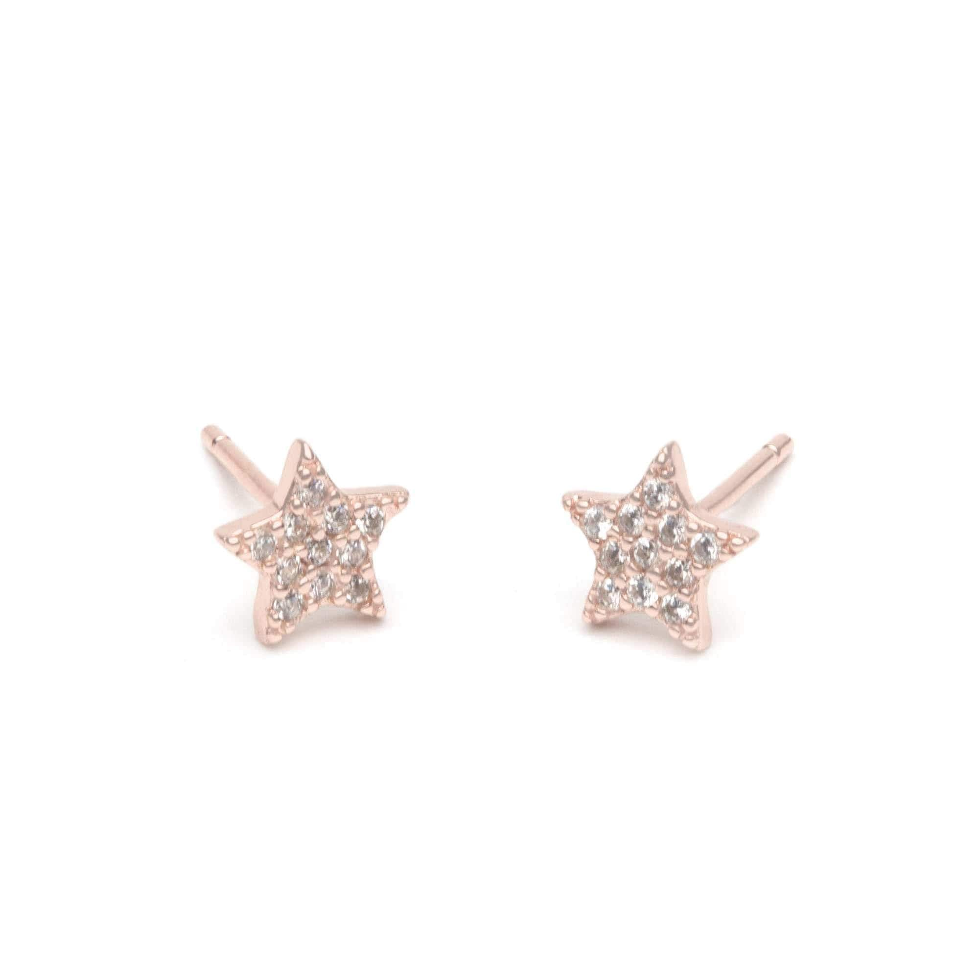 Jeanne's Jewels earrings Rose Gold Ivy