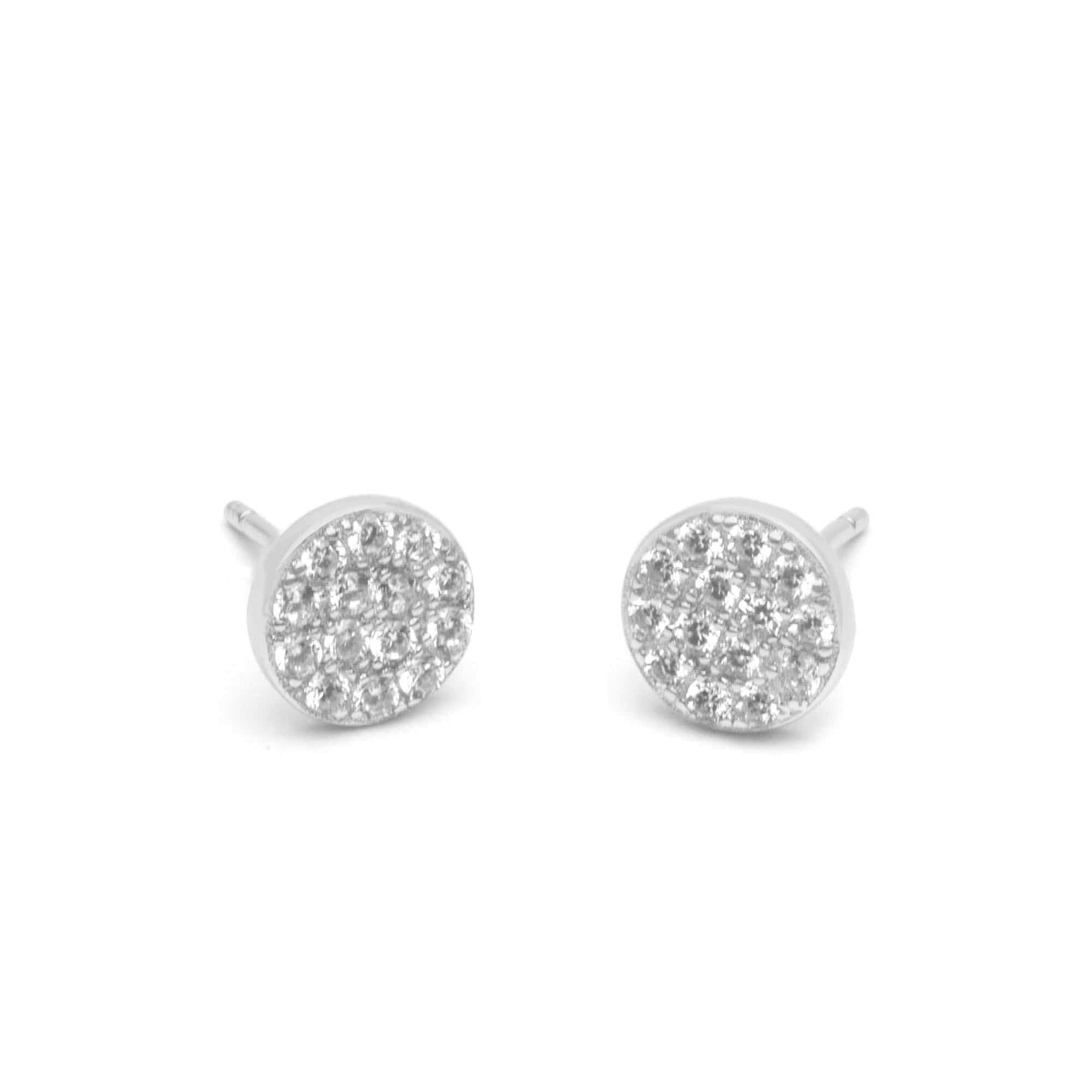 Jeanne's Jewels earrings White Gold Piper
