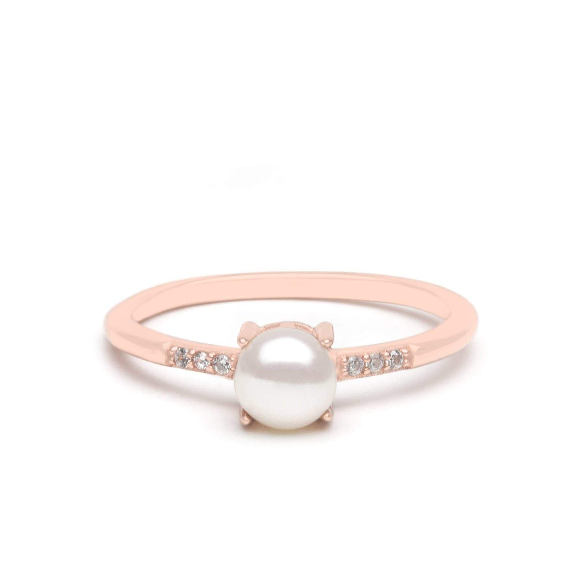 Jeanne's Jewels Rings Rose Gold / 5 Emilia