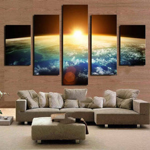 5 PIECE RISING SUN CANVA